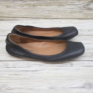 Lucky Brand Black Leather Santana Flats